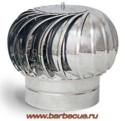 Турбодефлектор усиления тяги печи барбекю. Купить недорого усилитель тяги печи